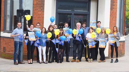 Staff at the East Anglian Daily Times and Ipswich Star get ready for Suffolk Day celebrations Pictur