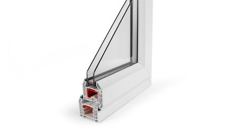 A corner sample showing the profile of a double glazed window frame. Picture frames conservatoriies