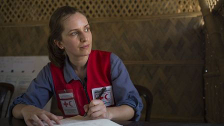 Aid worker Amy Loader at Cox's Bazar, Bangladesh Picture: AJ GHANI/BRITISH RED CROSS