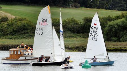 Dinghy and yacht races take to the water at the 2017 Woodbridge Regatta Picture: ANDY ABBOTT