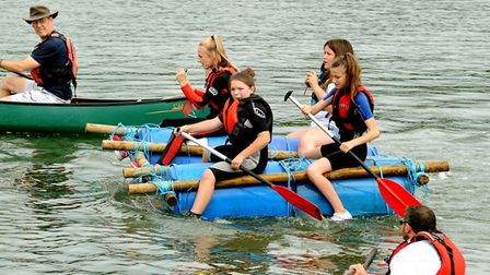 The traditional raft race for youth groups is returning this year Picture: ANDY ABBOTT