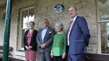 Left to right: Jenny Labbett, Trustee-Director, John Curley of the National Railway Heritage Awards