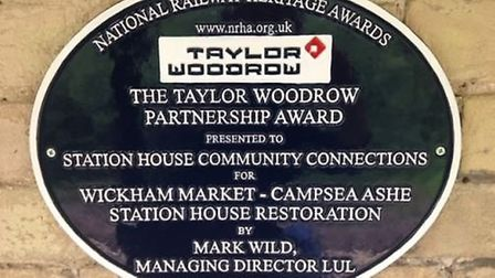 The Taylor Woodrow Partnership Award 2017 was presented by the National Railway Heritage Awards to S
