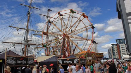 Tall ships and funfair on Ipswich Waterfront. Picture: TIM GARRET-MOORE