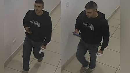 Police are searching for this man in connection with a stabbing in Chelmsford High Street on June 4,
