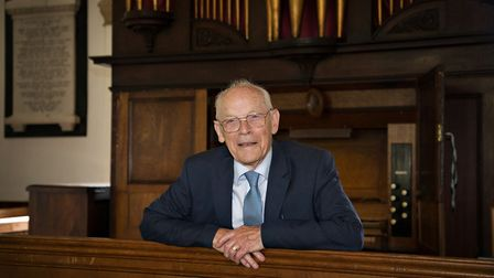 Denis has been playing the organ in Suffolk for nearly 80 years Picture: RUTH LEACH