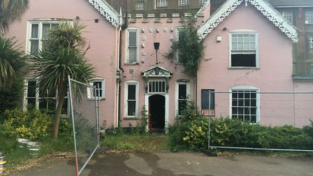 The fire was started by a sofa set alight inside the building Picture: AMY GIBBONS