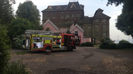 Fire crews tackled the blaze on site Picture: AMY GIBBONS