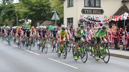 Leaders passing through Kesgrave Bell Picture: GEORGE COPPING