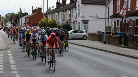 Cycle Race passing along Bramford Road Picture: GRAHAM MEADOWS