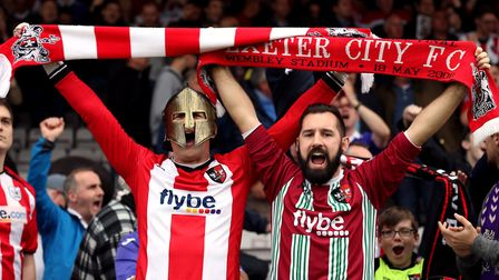 Exeter City made the League One Play-Off Final last season. Photo: PA