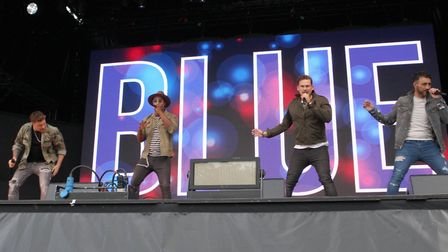 Noughties boyband Blue got the crowd going Picture: SEANA HUGHES