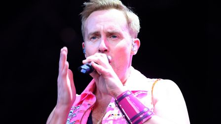 H from Steps forgot his lines at one point during Steps' performance Picture: SEANA HUGHES
