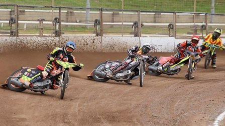 Action from today's KO Cup quarter-final meeting,.between 'KJM/Manchetts' Fen Tigers and Birmingham