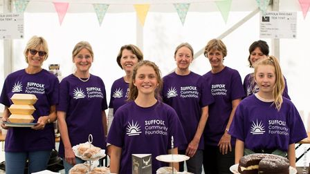 Suffolk Community Foundation volunteers at Suffolk Dog Day last year Picture: RICHARD FERRIS IMAGES