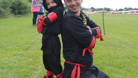 Participants in the Ipswich Extreme Ninja Assault. Picture: ADRIAN RAWLINSON