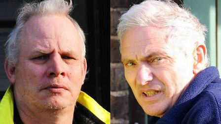 Andrew McInnes (left) and William Cooper (right) were killed in the fire in Stanley Street, Lowestof