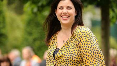 Kirsty Allsop on terra firma at the Chelsea Flower Show in 2011. Picture: SARAH LUCY BROWN