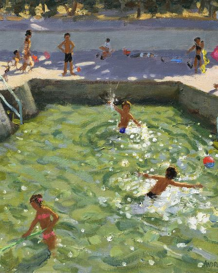Andrew Macara, Children's Pool, part of the Thompson's Gallery, Aldeburgh, summer exhibition. Photo: