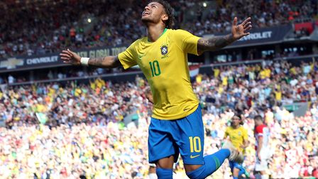 Brazil's Neymar, fit and ready to go in Russia Photo PA