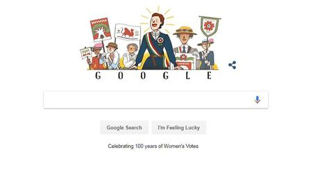 The Google Doodle on June 11, 2018 was dedicated to Millicent Fawcett Picture: GOOGLE
