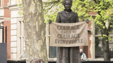 The statue of Millicent Fawcett in London Picture: JOHN LUBBOCK