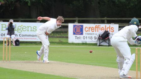Kyran Young, who took six wickets in Frinton's one-wicket success at Mildenhall