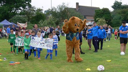 The school teams took part in a parade before the tournament kicked off Picture: SARS