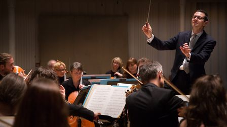 John Wilson and the BBC Scottish Symphony Orchestra which is performing at Snape as part of the Alde