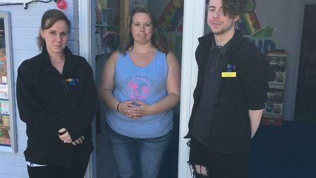 Owner Sarah Cades with staff at the Rainbow Fun centre in Sudbury Picture: RAINBOW FUN