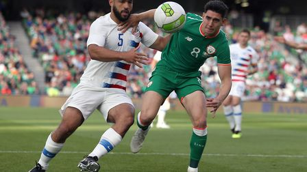 Cameron Carter-Vickers (pictured in action for the USA against Ireland recently) impressed on loan f
