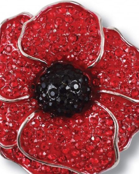 A poppy brooch similar to the one stolen in the Eight Ash Green burglary Picture: ESSEX POLICE