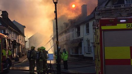 Crews are at the scene of a flat fire in Halesworth Picture: SUZANNE PAINTING