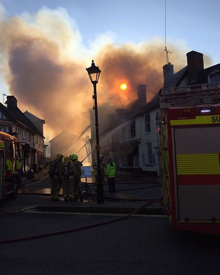 Crews are at the scene of a flat fire in Halesworth. Picture Suzanne Painting