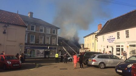 Fire crews are on the scene of a fire in Halesworth Picture: JUDITH CONDON