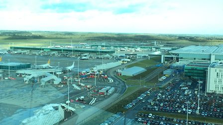 The view of Stansted Airport from the control tower Picture: WILL LODGE