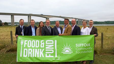 Founding Partners of The Food and Drink Fund. Left to right: Suffolk High Sheriff George Vestey, Wil