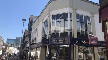 Poundworld on Tavern Street, Ipswich, which faces imminent closure after it was announced that the b