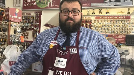 Shane Daly who works at Timpsons, next door to the doomed retailer Poundworld on Tavern Street in I