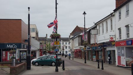 Stowmarket town centre Picture: MID SUFFOLK DISTRICT COUNCIL
