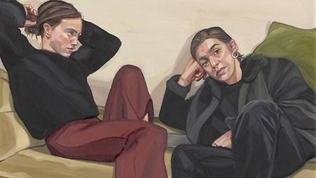 A Portrait of Two Female Painters submitted by Suffolk portrait artist Ania Hobson to this year's BP