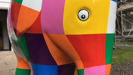 Elmer is back out on his travels across Ipswich Picture: KATY SANDALLS