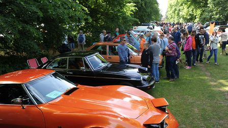 Crowds flock to the Cars on the Green & Bury Motor Show at Nowton Park in Bury Picture: PHIL MORLEY