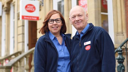 Southwold Post Office owners Sarah Green and Guy Mitchell Picture: SARAH LUCY BROWN