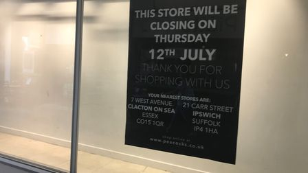 Blow for Colchester as the Peacocks store is to close in July