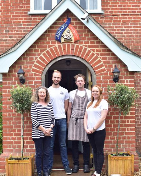The team at The Queen at Brandeston, which is hosting a Suffolk Day Festival Picture: SARAH LUCY BRO