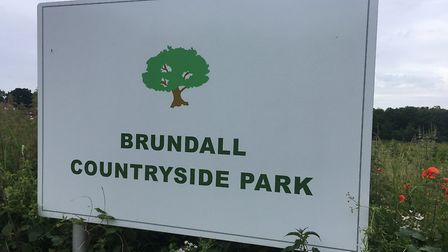 Brundall Countryside Park, the venue for the Brundall parkrun