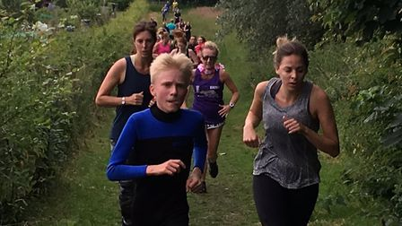Some of the 174 runners in action at the 146th Brundall parkrun, in Norfolk. Picture: CARL MARSTON