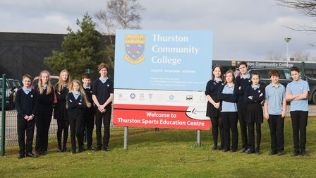 Pupils from Thurston Community College are pleading with Suffolk councillors to help them keep their