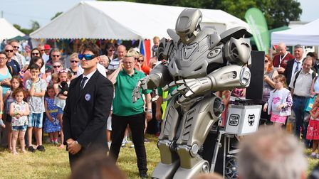 Titan the Robot entertains the crowds at the Tendring Show Picture: GREGG BROWN